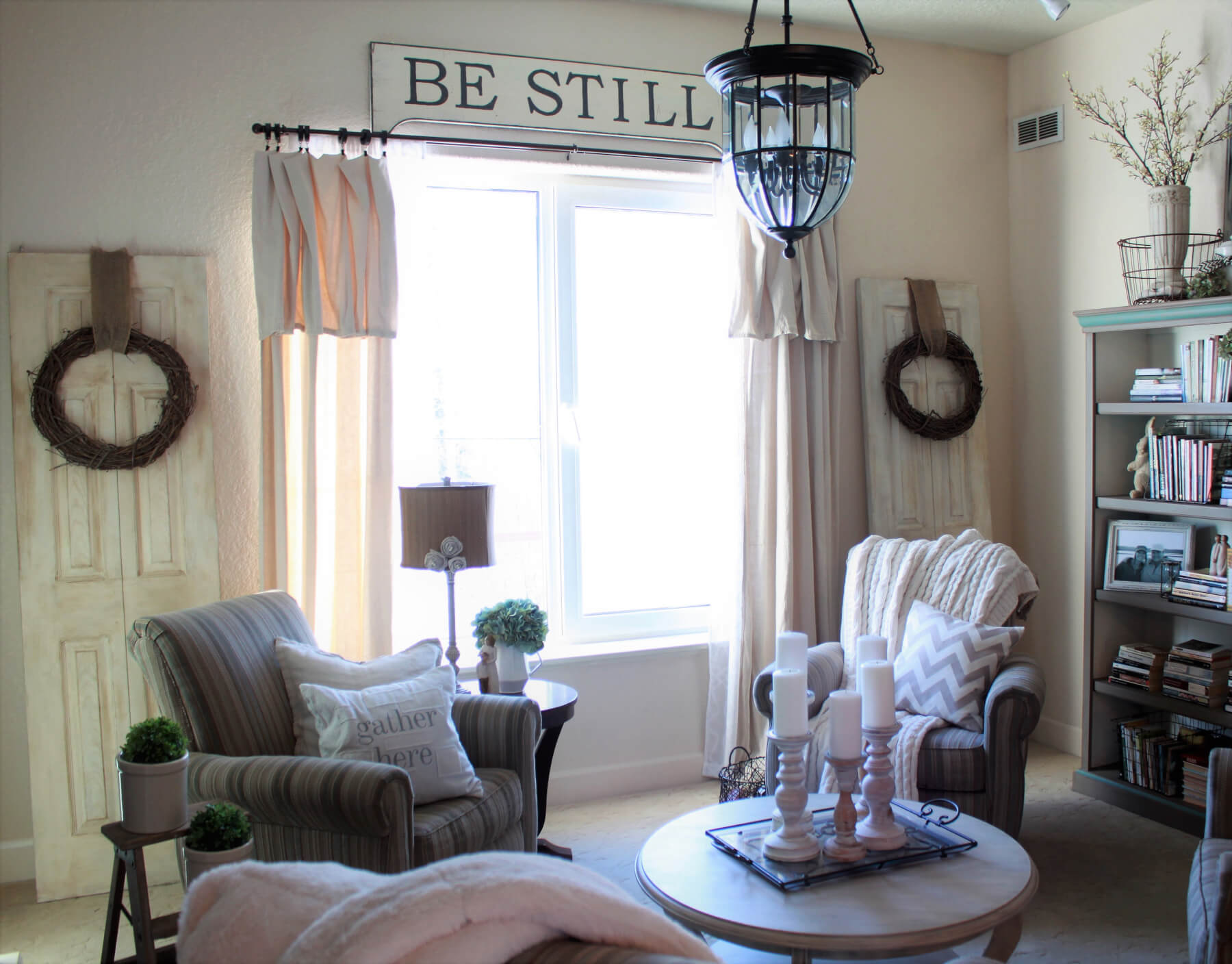 "DIY ""Be Still"" Sign"